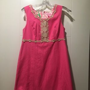 Lilly Pulitzer Pink Rosie Shift Dress SZ 8